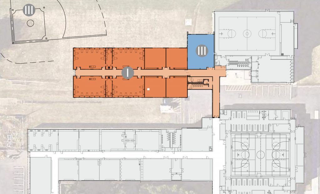 Site plan classroom addition and multipurpose fitness room